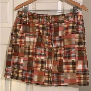 Ann Taylor Loft madras skirt